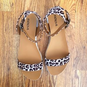 Soda Tacoma Sandal in Cheetah